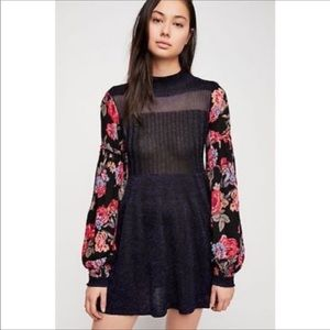 NWT Free People Rose & Shine Sweater Dress Medium